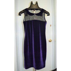 One & Only X Urban Renewal Purple Velvet Dress